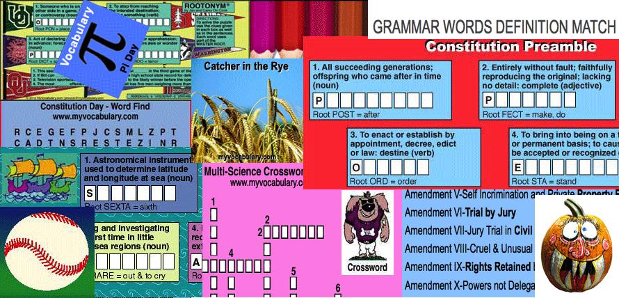 Vocabulary, Vocabulary Games - www myvocabulary com