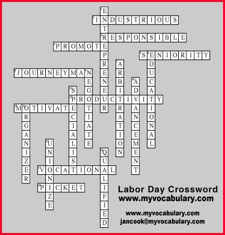 Labor day vocabulary games labor day vocabulary puzzles for Plant in an english hedge crossword clue