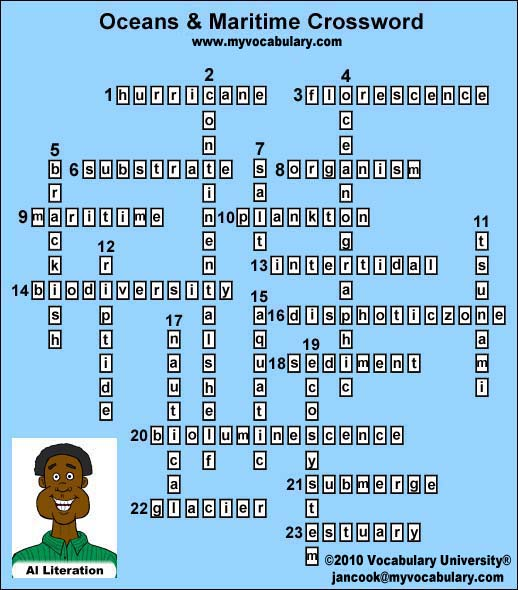 Oceans vocabulary games, Oceans vocabulary puzzles - www ...